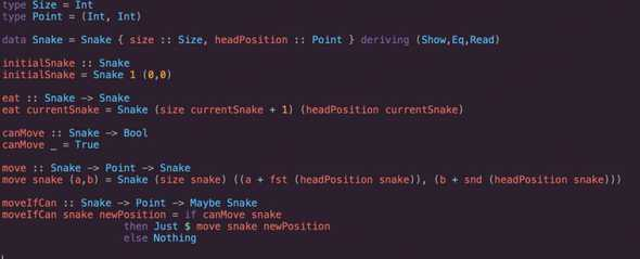 Snake Game in Haskell